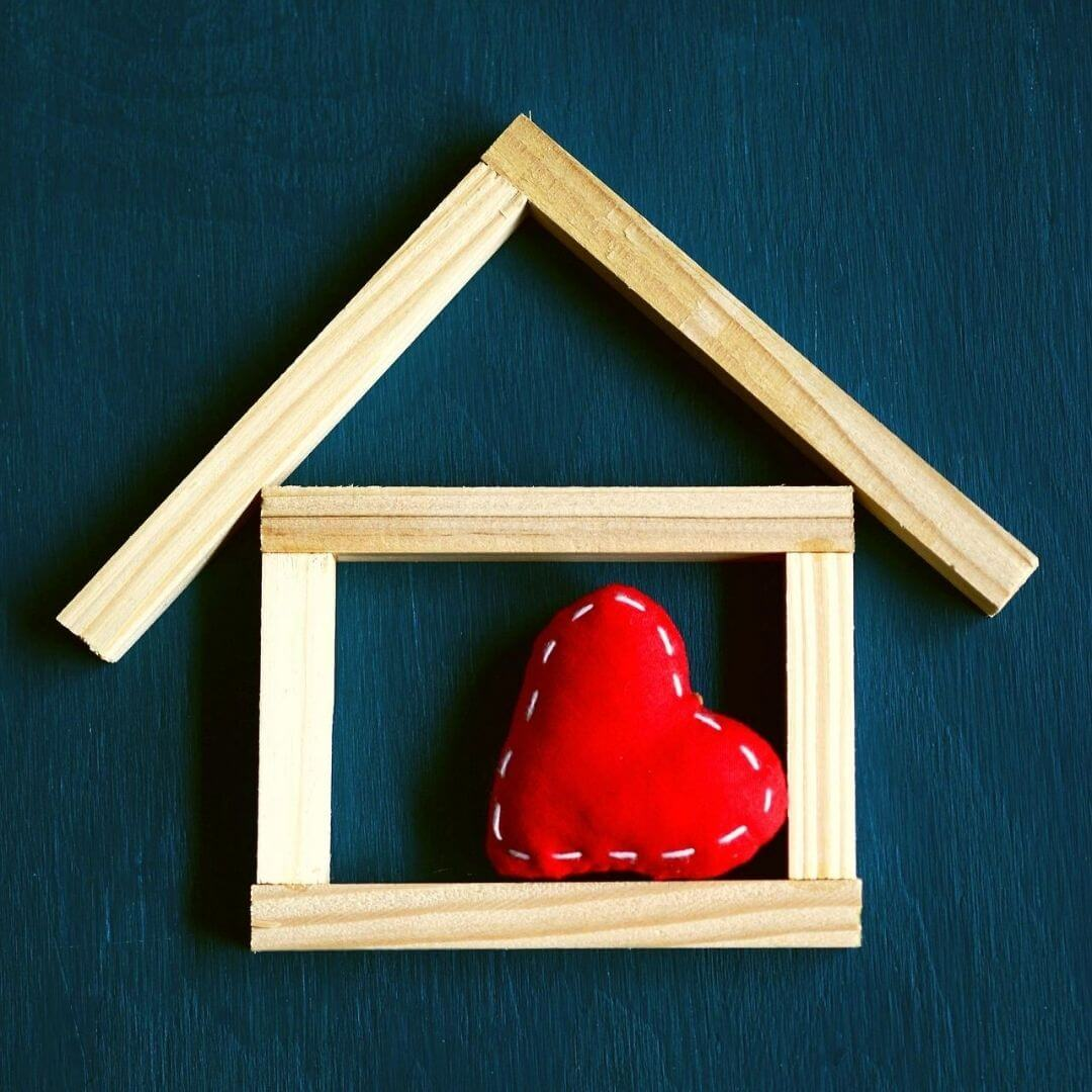 House with heart in the middle