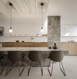 Technistone industrial style kitchen