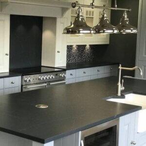 Charcoal Soapstone Quartz, Quartz Kitchen Worktops, Quartz Worktop Cleanin