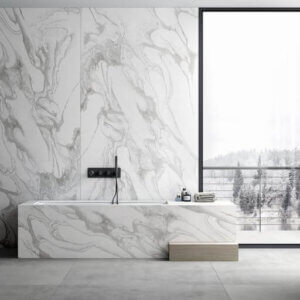 Dekton Bathroom Cladding, Dekton Liquid Sky, Bathroom Interior Design